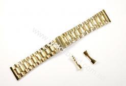 Браслет для часов 24 мм (gold) BUT24G-14
